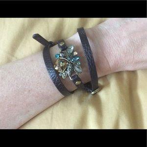 NWOT Bee-Jeweled Wrap Bracelet